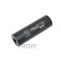 "Silenciador 107mm ""NOVESKE"" con rosca doble + -14mm color negro"