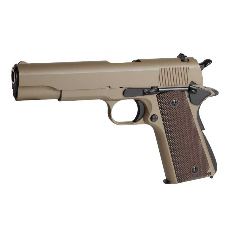 Pistola Gas 1911 A1 Golden Eagle color marrón claro