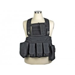 Chaleco Chest Ring Molle 600D negro