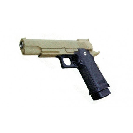 Pistola de muelle Hi-Capa 5.1 Golden Eagle color negro/marrón claro