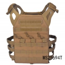 Chaleco táctico A.C.M Skirmich Jumper Plate Carrier marrón Wisha