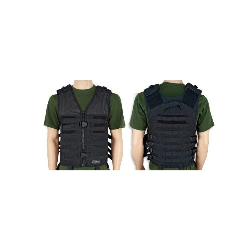Chaleco Pilkerton IV Force Molle color negro Barbaric